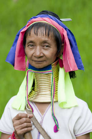 Portrait of long neck woman Stock Photo