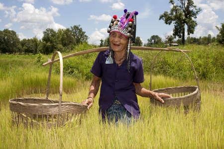 old Asian woman, Akha photo