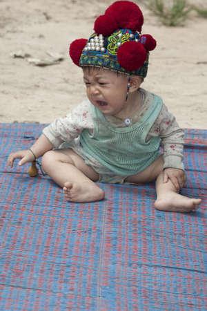 ethnic group: Asian baby of Laos, ethnic group Yao Stock Photo