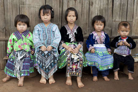 Children of Asia, ethnic group Meo, Hmong photo