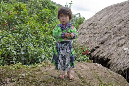 ethnic group: Girl of Asia, ethnic group Meo, Hmong