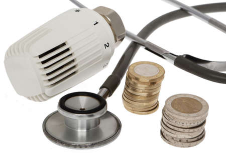 save heating costs: Energy costs save Stock Photo