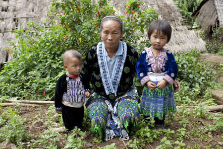 ethnic group: Children of Asia, ethnic group Meo, Hmong Stock Photo