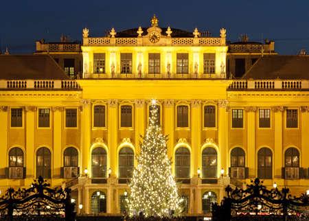nbrunn: christmas fair castle schoenbrunn, Vienna