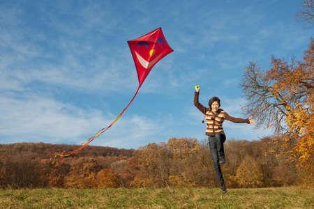 einen Kite fliegen