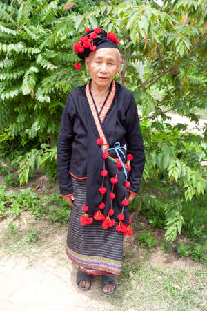 ethnic group: Woman from Laos, ethnic group Phu Noy Stock Photo