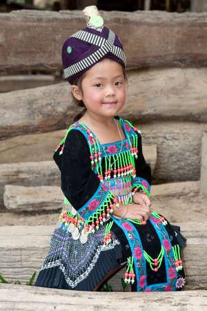 cute girl from Laos Hmong Stock Photo - 6511060