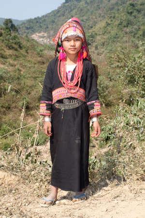 Akha woman in Laos Stock Photo - 6511150