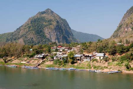 Nong Khiao at river Nam Ou in Laos