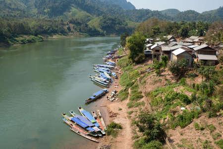ou: Nong Khiao at river Nam Ou in Laos
