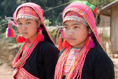 Akha woman in Laos photo