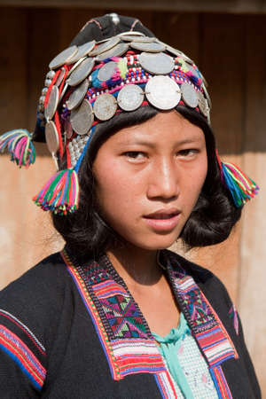 national costume: Portrait ethnic group Silo in Laos