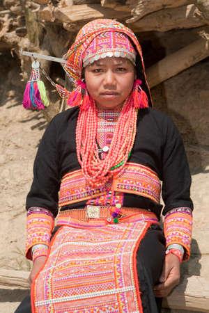 Akha woman from Laos Stock Photo - 6584887