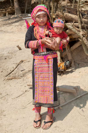 Akha woman with baby Stock Photo - 6584927