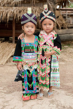 Girls of Laos ethnic group Hmong photo