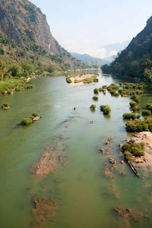 ou: River Nam Ou near Nong Khiao in Laos Stock Photo