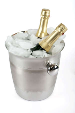 Champagne with ice cooler photo
