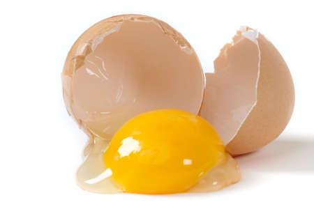 egg white: broken egg