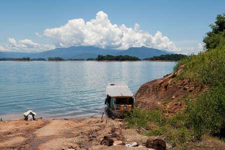 nam: Nam Ngum reservoir in Laos