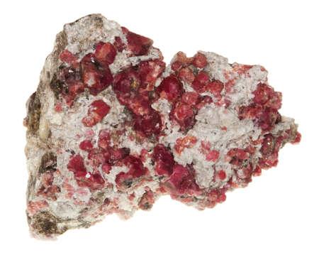 granate: Garnet rojo Foto de archivo