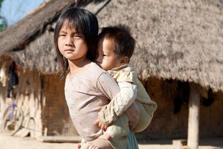 Children in poverty photo