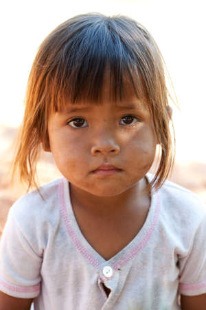 poor people: cute asian girl