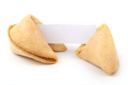 Chinese fortune cookie with blank paper photo
