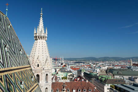 Vienna panoramic view from St.Stephans Cathedral