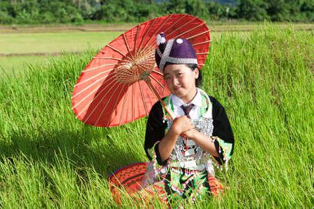 Portrait Hmong from Laos photo