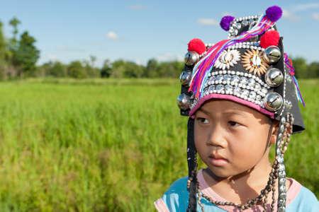 asiatische Jungen ethnischen Akha