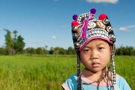 asian boy ethnic Akha photo