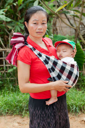 traditon: asian mother with baby Stock Photo