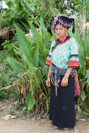 portrait women ethnic group of Laos Stock Photo - 10588172