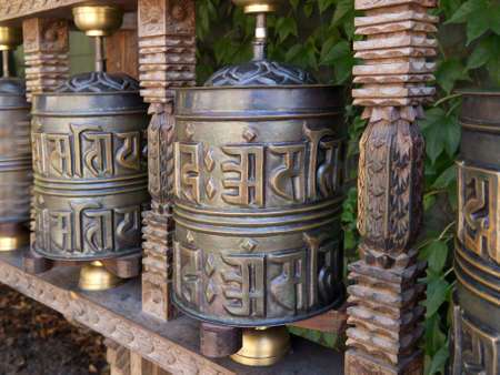 tibetan prayer wheel photo