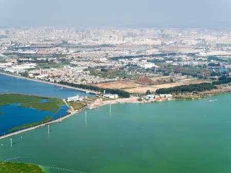 Skyline of Kunming, China photo