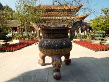 kunming: Bamboo temple at Kunming, China Stock Photo