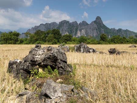karst: Vang Vieng karst mountains