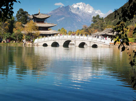 Jade Dragon Snow Mountain, Lijiang Standard-Bild