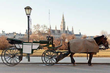 Fiaker carriage in Vienna, Austria