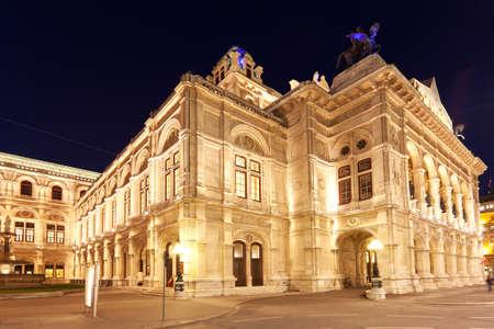 wiedeń: Wiedeńska Opera Państwowa w nocy