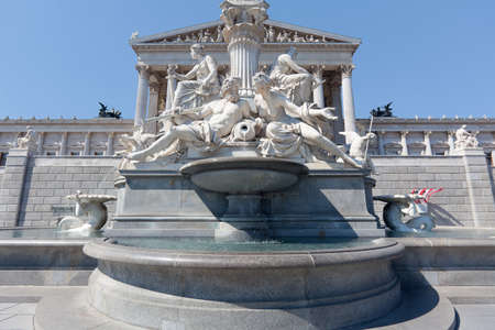 pallas: Pallas Athena Fountain, Vienna Stock Photo