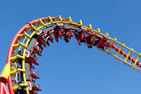 rollercoaster against blue sky Standard-Bild