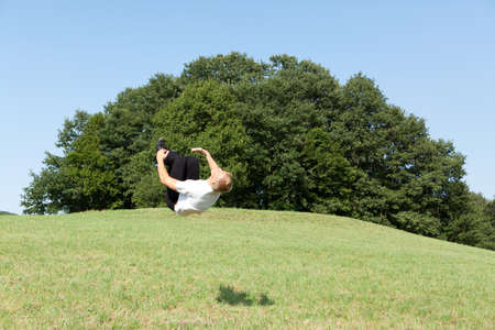 somersault: Somersault in the nature