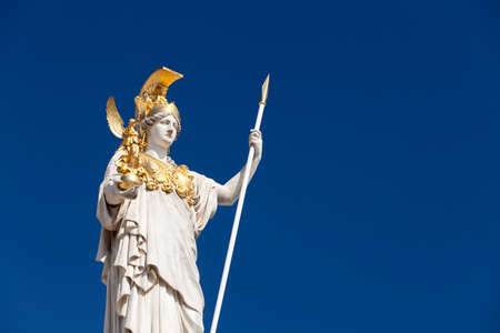 Athena, goddess of greek mythology photo