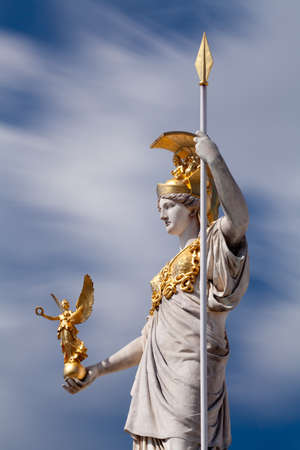 Athena, goddess of greek mythology photo
