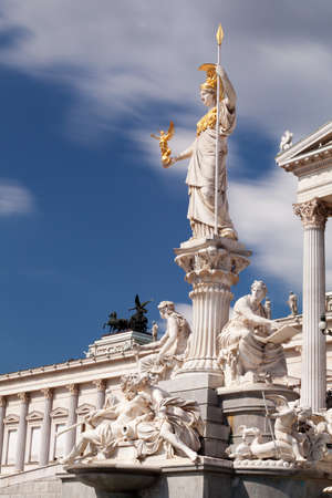 pallas: Austrian Parliament with Pallas Athene