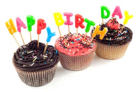 velitas de cumpleaños: Feliz cumpleaños Foto de archivo