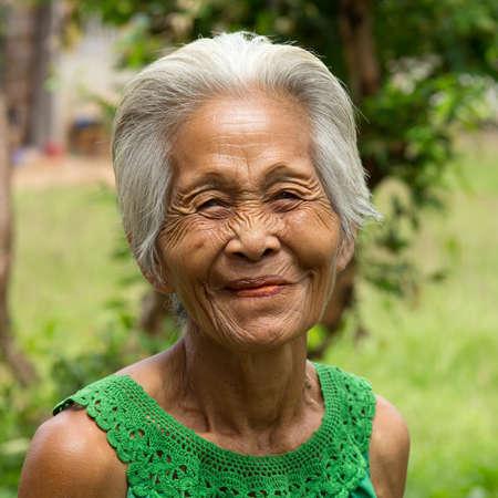 old asian women Stock Photo