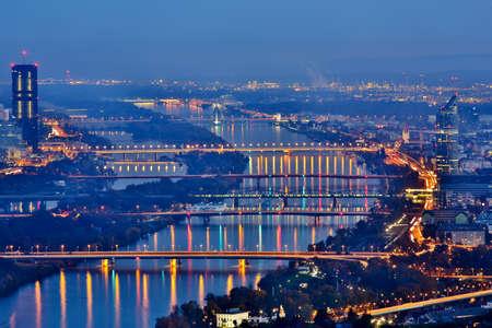 wiedeń: Wiedeń nocą Zdjęcie Seryjne