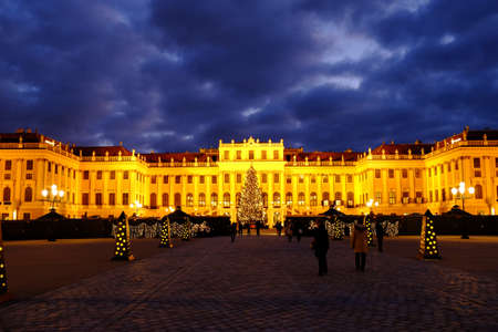 Christmas market Schonbrunn, Vienna photo